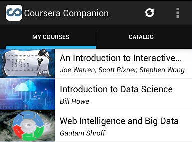 Review of 'Coursera Companion' for Android