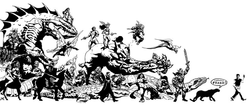 Video Game's Finest Pay Tribute To Artist Frank Frazetta