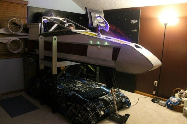 X-Wing Bed Gives Boy The Coolest Childhood On Record