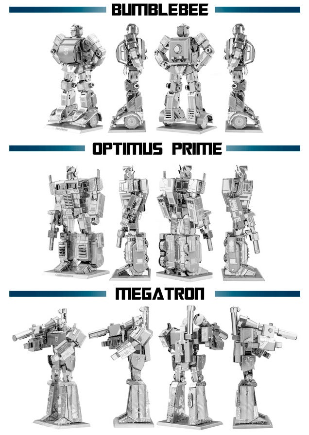 Transform a Thin Metal Sheet Into Optimus Prime, Bumblebee, or Megatron
