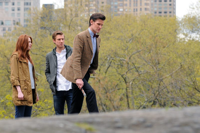 Doctor Who in Central Park, from WENN.com