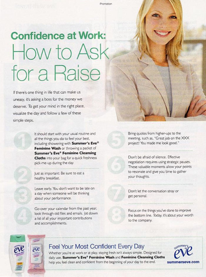 How To Ask For A Raise: First, Wash Your Vagina