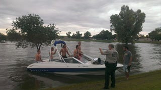 They are boating in Arizona too, not just jetskiing...