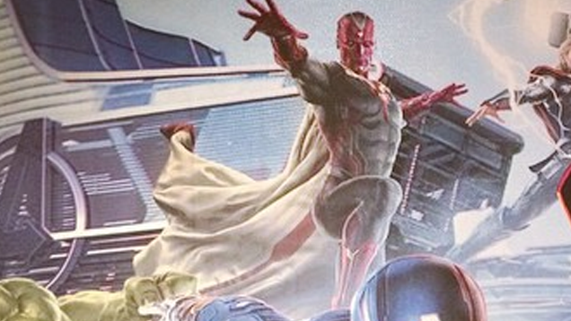 Our first look at the front of Age of Ultron's version of The Vision