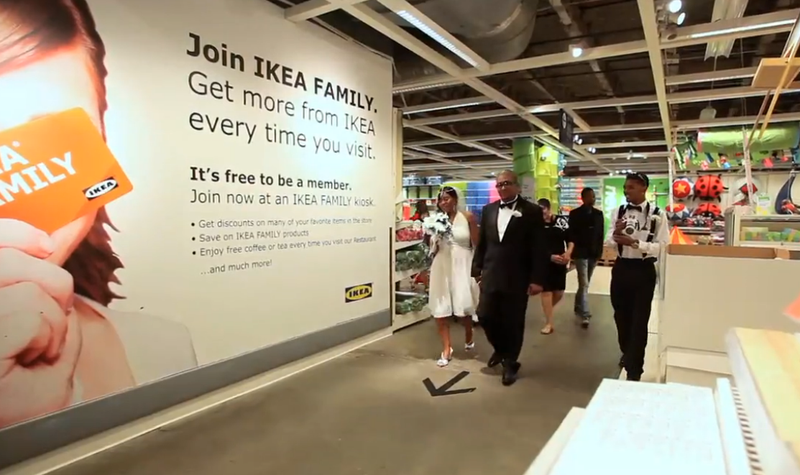 Sentimental Couple Gets Married at a New Jersey IKEA