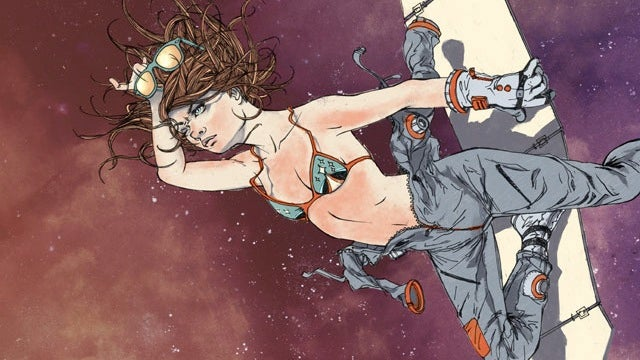 Half-dressed astronauts illustrate the hazards of exposing your body in space