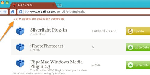 Plug-In Check Identifies Vulnerable or Out-of-Date Plug-Ins in All Browsers