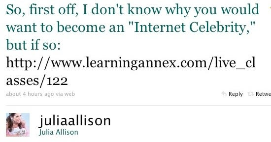 Julia Allison Has No Idea Why You're Taking Lessons from Julia Allison