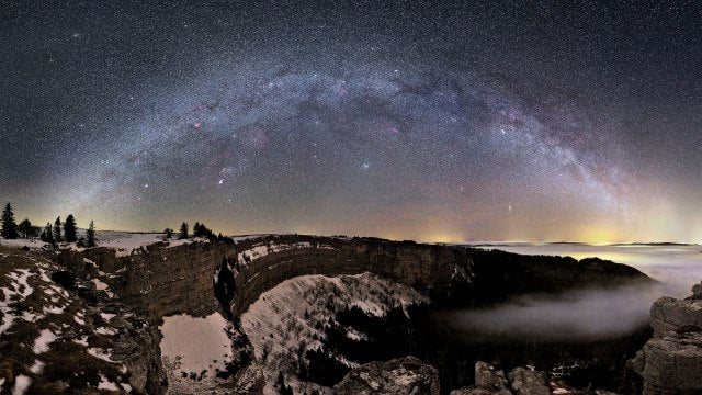Incredible photo over Switzerland reveals the Milky Way in all its galactic glory