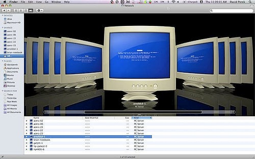 OS X Leopard Shows Networked PCs With BSOD Icons