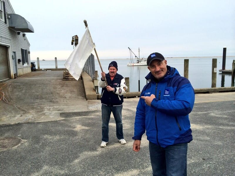 Exasperated Massachusite Waves White Flag at Sight of Jim Cantore
