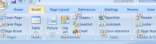 Screenshot Tour: The keyboard shortcut goodness of Microsoft Office 2007