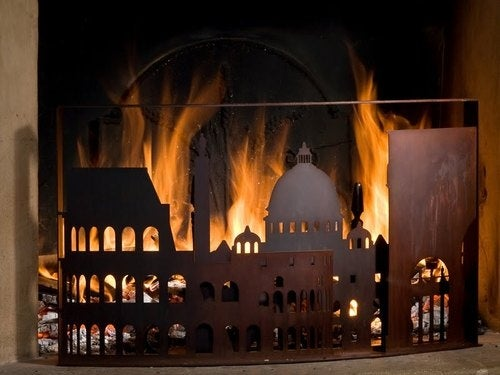 Burning Cities Firescreens Make Horrible Tragedies Downright Cozy