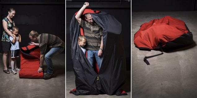 A Ballistic Sleeping Bag That Promises Protection From a Tornado