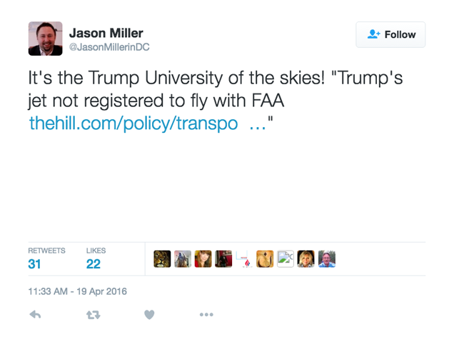 "Newly-Hired Trump Aide Deletes Tweets About ""Sleazy Donald"" for Some Reason"