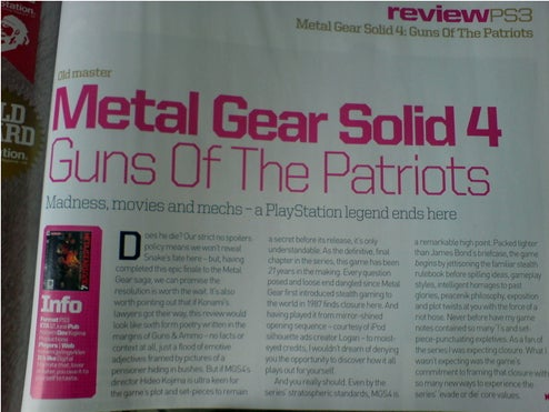 First Official Metal Gear Solid 4 Review