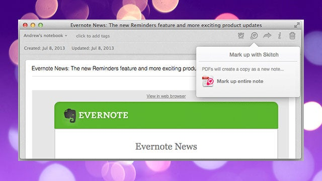Evernote Updates with Skitch Annotations, Documents Preview, and More