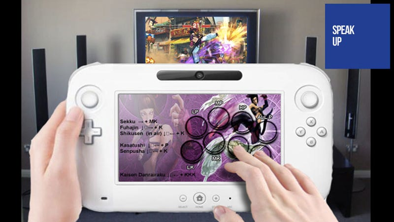 The Wii U Controller Would Make One Hell of a Fighting Game Cheat Sheet
