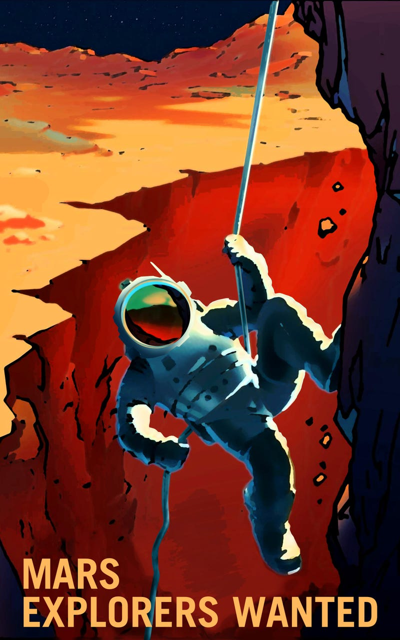 NASA's Mars Recruitment Posters Will Convince You to Go Die in Space