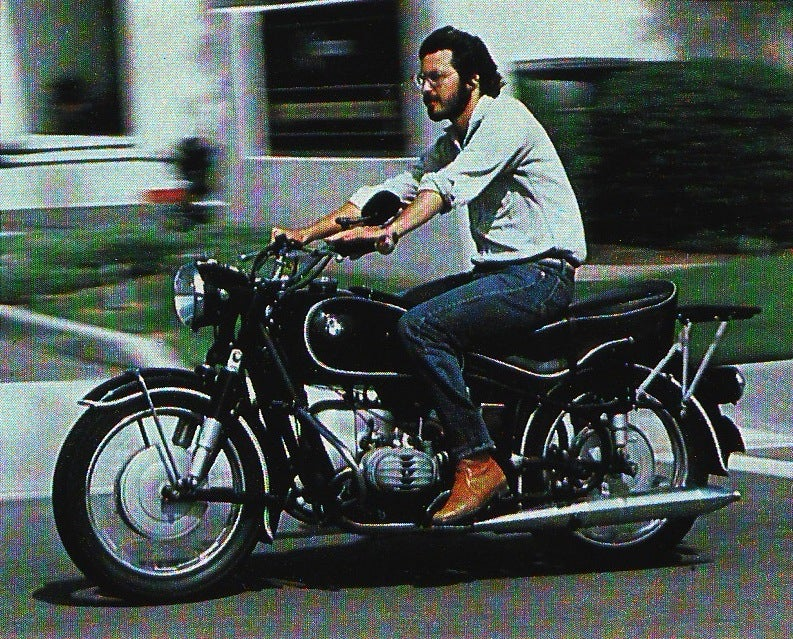 Decades Before The iPad, Steve Jobs Rode A BMW
