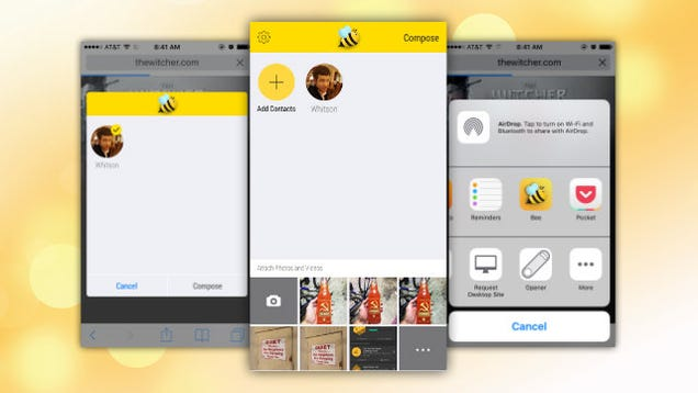 Bee Quickly Sends Emails from Any iOS App