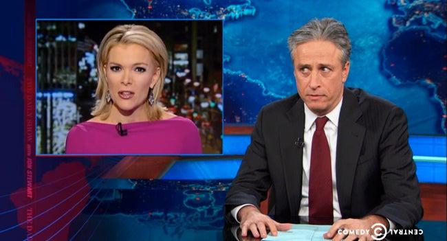 Jon Stewart Lays Into Megyn Kelly Over Race War on Christmas