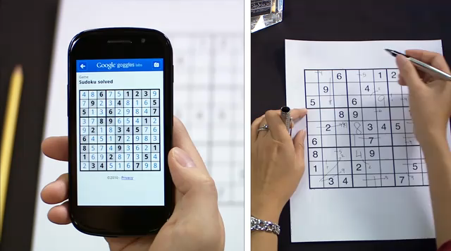 Google Goggles Now Solves Sudoku for You