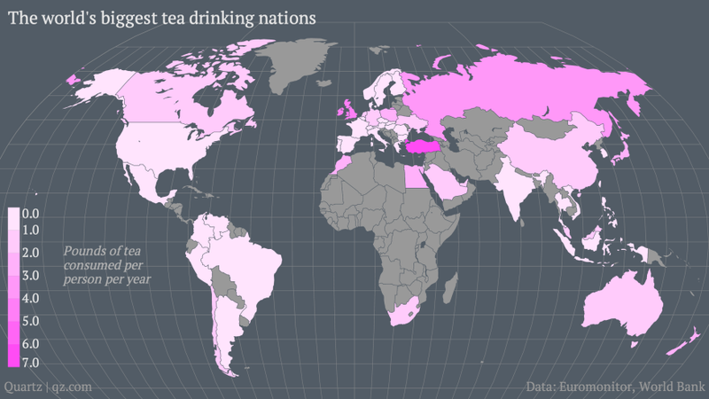 The World's Biggest Tea Drinkers, Visualized