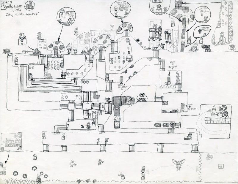 Scott Pilgrim's Creator Designed This Adorable Mario Level When he was a Kid