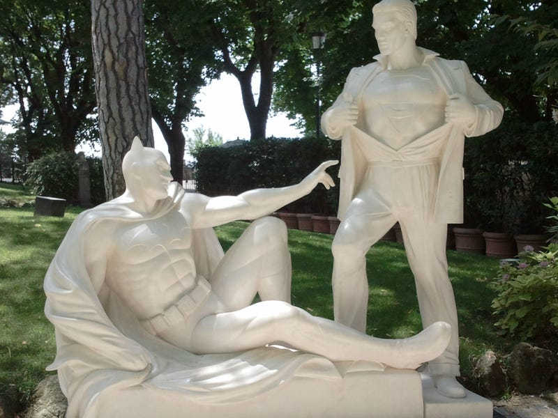 Visit Rome, see the statue of Superman and Batman's foreplay