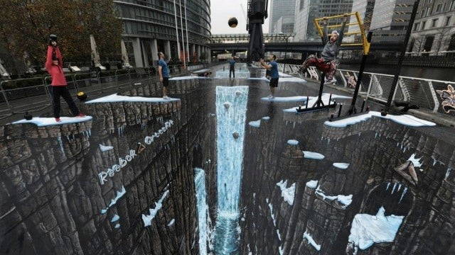 The World's Largest 3D Street Art Opens Up a Gateway to Hell