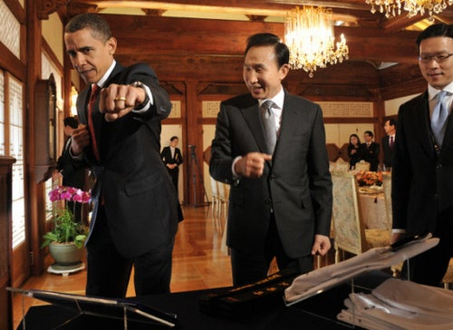 "Obama Goes ""Boom-Boom Pow"" On South Korean-U.S. Auto Trade Agreements"