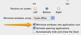 Minimize Windows to Icons in Snow Leopard
