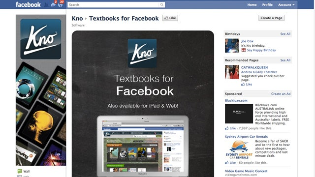 Kno Thinks Selling College Textbooks On Facebook Is the Way Forward