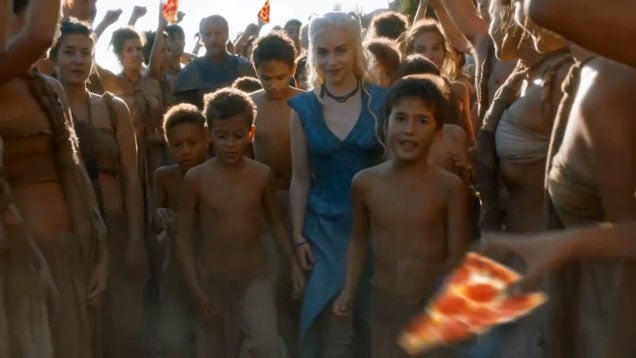 Game of Thrones' Daenerys Targaryen is a Pizza Savior