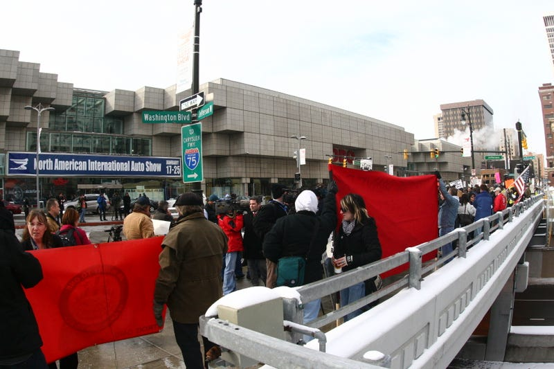 Unrest In Detroit Spurs Auto Show Protest