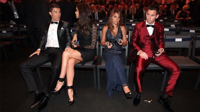 Sadly, This Great Picture Of Ronaldo Stealing Messi's Girl Is Fake