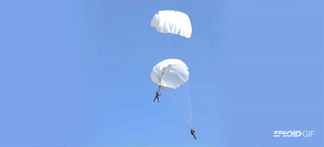 Paratroopers miraculously survive after terrifying midair collision