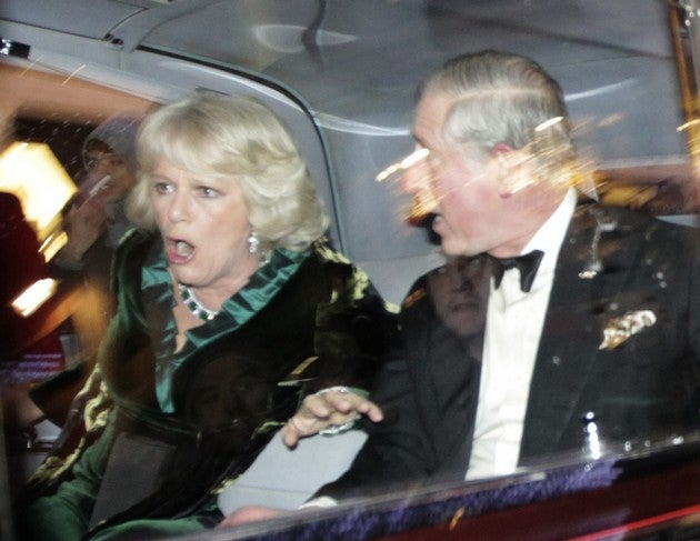 Mob Attacks Prince Charles And Camilla's Car