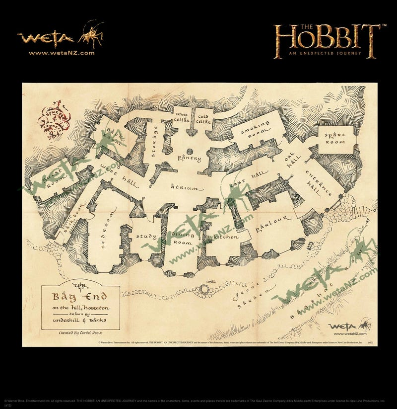 Gorgeous prop replica maps of Middle Earth take us through Peter Jackson's Hobbit