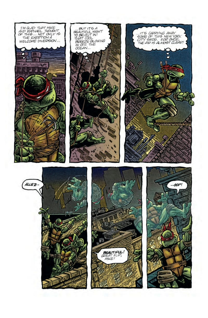 This Monday comic preview, it's old-school Teenage Mutant Ninja Turtles