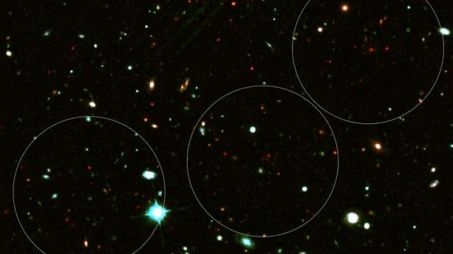 This ancient galaxy cluster is hiding in plain sight