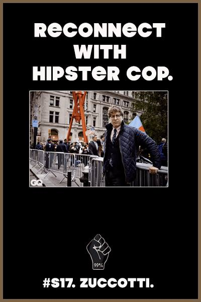 Two Years Later, Occupy Is Gone, But We'll Always Have Hipster Cop