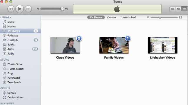Group Videos in iTunes by Saving Them as TV Shows