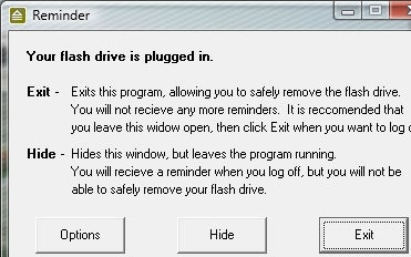 Flash Drive Reminder Prevents Leaving Your Thumb Drive Behind