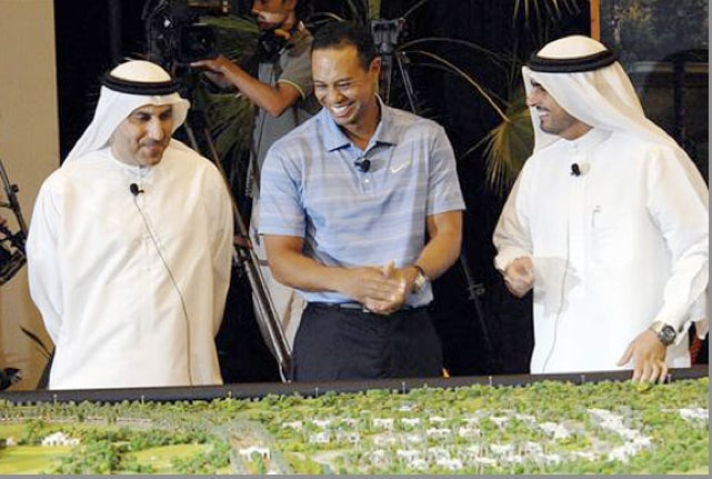 Tiger Woods Is Having A Great Time In Dubai