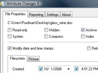 Attribute Changer Gives You Total File Control
