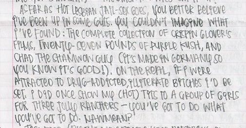 Hipster Grifter on Lesbian Jail Sex Fantasies, Etc.