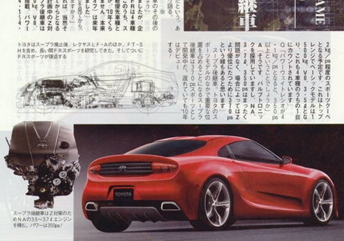 2010 Toyota Supra Super Speculation Scan Potential
