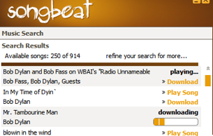 Songbeat Like (Old-School) Napster for One-Off Music Downloads